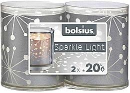 Parfums et Produits cosmétiques Set bougies - Bolsius Sparkle Lights Crystal Silver Candle