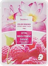 Parfums et Produits cosmétiques Masque en tissu revitalisant et éclaircissant à l'extrait de fleur de lotus et framboise - Deoproce Color Synergy Effect Sheet Mask Pink