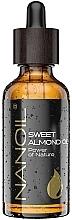 Parfums et Produits cosmétiques Huile d'amande pour corps et visage - Nanoil Body Face and Hair Sweet Almond Oil