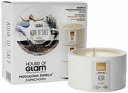 Parfums et Produits cosmétiques Bougie parfumée de soja et cire d'abeille - House of Glam Aqua Di Sale Candle