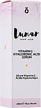 Parfums et Produits cosmétiques Sérum à l'acide hyaluronique pour visage - Lunar Glow Vitamin C Hyaluronic Acid Serum