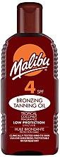 Parfums et Produits cosmétiques Huile bronzante protection faible - Malibu Bronzing Tanning Oil SPF4
