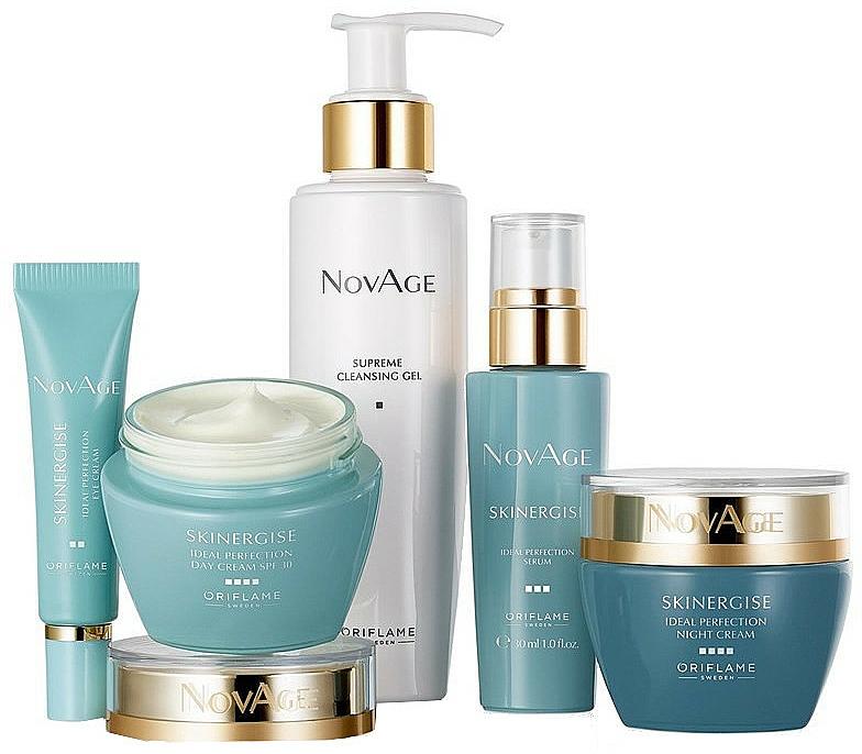 Oriflame NovAge Skinergise Set - Coffret soin visage(gel/150ml+crème yeux/15ml+sérum/30ml+crème de jour/50ml+crème de nuit/50ml)