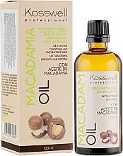 Parfums et Produits cosmétiques Huile à l'huile de macadamia pour cheveux - Kosswell Professional Macadamia Oil