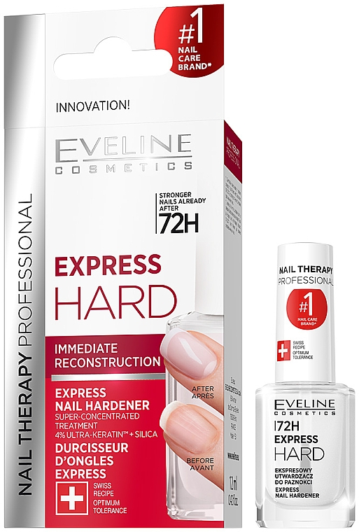 Durcisseur pour ongles - Eveline Cosmetics Nail Therapy Professional Express Hard 72h