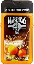 Parfums et Produits cosmétiques Gel douche au bois d'oranger et argan pour corps, visage et cheveux - Le Petit Marseillais Men Body and Hair