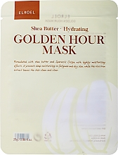 Parfums et Produits cosmétiques Masque tissu au beurre de karité pour visage - Elroel Golden Hour Mask Shea Butter Hydrating
