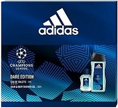 Parfums et Produits cosmétiques Adidas UEFA Champions League Dare Edition - Set (eau de toilette/50ml + gel douche pour corps et cheveux/250ml)
