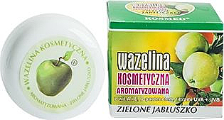 Vaseline pour lèvres à la vitamine A et E, Pomme verte - Kosmed Flavored Jelly Green Apple