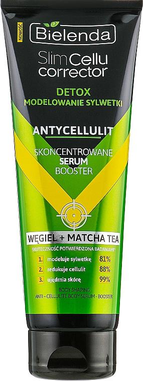 Sérum concentré anti-cellulite au charbon et thé vert matcha - Bielenda Slim Cellu Corrector Detox Serum Booster
