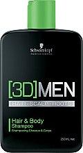Parfums et Produits cosmétiques Shampooing cheveux et corps - Schwarzkopf Professional 3D Mension Hair & Body Shampoo