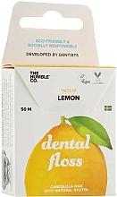 Parfums et Produits cosmétiques Fil dentaire en soie, vegan, Citron - The Humble Co. Dental Floss Lemon