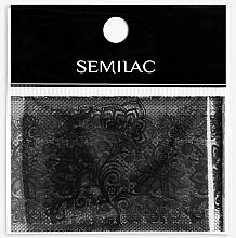 Parfums et Produits cosmétiques Feuille pour décoration des ongles - Semilac 06 Transfer Nagelfolie Semilac Black Lace