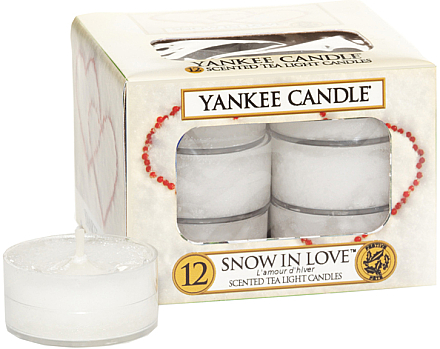 Bougies chauffe-plats parfumées L'amour d'hiver - Yankee Candle Scented Tea Light Candles Snow in Love — Photo N1