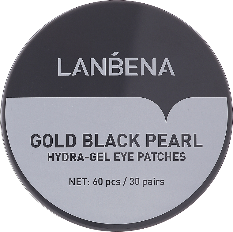 Patchs hydrogel à la perle noire pour contour des yeux - Lanbena Gold Black Pearl Collagen Eye Patch