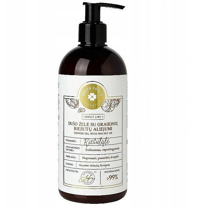 Gel douche à l'huile de noix - Green Feel's Shower Gel With Walnut Oil