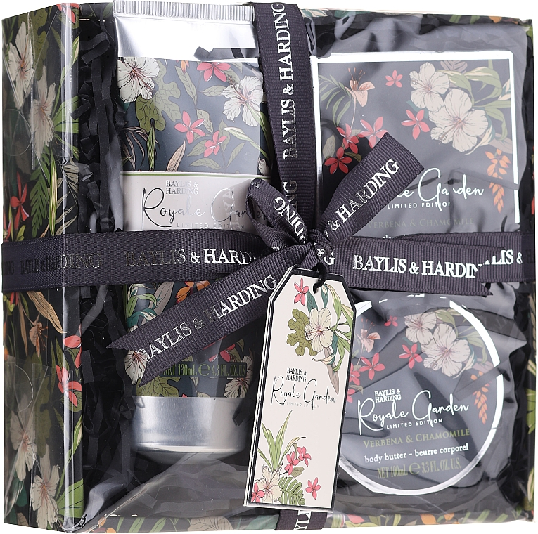 Coffret cadeau - Baylis & Harding Royale Garden Verbena & Chamomile (sh/cr/130ml + soap/150g + b/butter/100ml) — Photo N1