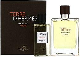 Parfums et Produits cosmétiques Terre D'Hermes Eau Intense Vetiver - Coffret (eau de parfum/100ml + gel douche corps et cheveux/100ml)