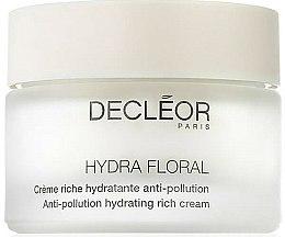 Parfums et Produits cosmétiques Crème riche hydratante anti-pollution pour visage - Decleor Hydra Floral Anti-Pollution Hydrating Rich Cream