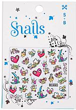 Parfums et Produits cosmétiques Stickers 3D pour décoration des ongles - Snails 3D Nail Stickers (1 feuille)