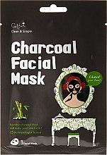 Parfums et Produits cosmétiques Masque tissu au charbon de bambou pour visage - Cettua Charcoal Facial Mask
