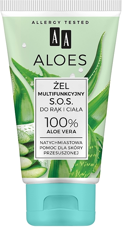 Gel d'aloe vera multifonctionnel pour mains et corps - AA Aloes