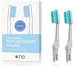 Parfums et Produits cosmétiques Têtes de remplacement pour brosse à dents, souple, gris - TIO Toothbrush Soft