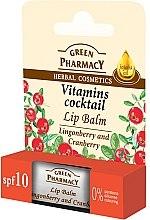 Parfums et Produits cosmétiques Baume à lèvres à l'huile de jojoba - Green Pharmacy Lip Balm With Lingonberry And Cranberry