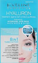 Parfums et Produits cosmétiques Patchs illuminateurs hydrogel au hyaluron pour contour des yeux - Eveline Cosmetics Hyaluron Hydrogel Illuminating Eye Pads 8in1