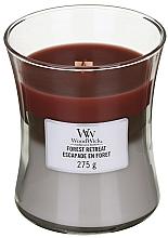 Parfums et Produits cosmétiques Bougie parfumée avec mèche en bois, Escapade en forêt - WoodWick Hourglass Trilogy Candle Forest Retreat