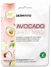 Parfums et Produits cosmétiques Masque tissu à l'huile d'avocat pour visage - Derma V10 Avocado Sheet Mask