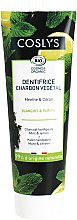 Parfums et Produits cosmétiques Dentifrice charbon végétal, menthe et citron - Coslys Mint & Lemon Charcoal Toothpaste
