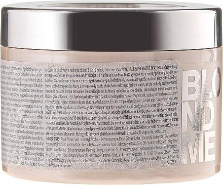 Masque caramel renforceur des nuances blonde chaud - Schwarzkopf Professional Blondme Tone Enhancing Bonding Mask Warm Blondes — Photo N2