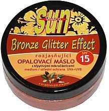 Parfums et Produits cosmétiques Huile de bronzage - Vivaco Sun Argan Bronz Oil Glitter Effect SPF 15