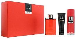 Parfums et Produits cosmétiques Alfred Dunhill Desire Red - Coffret (eau de toilette/100ml + gel douche/90ml + déodorant spray/195ml)