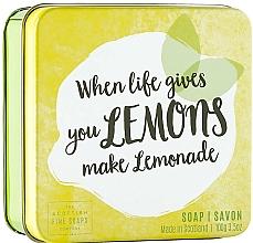 Parfums et Produits cosmétiques Savon en boîte métallique, Citrons - Scottish Fine Fruits Lemons Soap