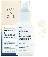 Huile à l'extrait de calendula pour visage - You & Oil Nourish & Invigorate Men's Skin Face Oil — Photo N1