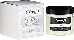 Parfums et Produits cosmétiques Bougie parfumée en cire de soja naturelle, Cocos - Eco Life Candles