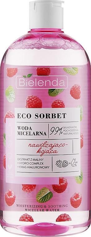 Eau micellaire à l'extrait de framboise - Bielenda Eco Sorbet Moisturizing & Soothing Micellar Water
