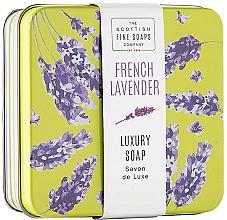Parfums et Produits cosmétiques Savon en boîte métallique, Lavande française - Scottish Fine French Lavender Soap In A Tin