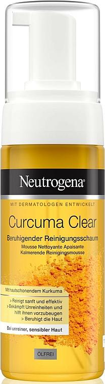 Mousse nettoyante à l'extrait de curcuma pour visage - Neutrogena Curcuma Clear Mousse Clenser