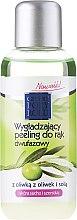 Parfums et Produits cosmétiques Peeling bi-phasé à l'huile d'olive pour les mains - Pharma CF Cztery Pory Roku Olive Hand Two-Phase Peeling
