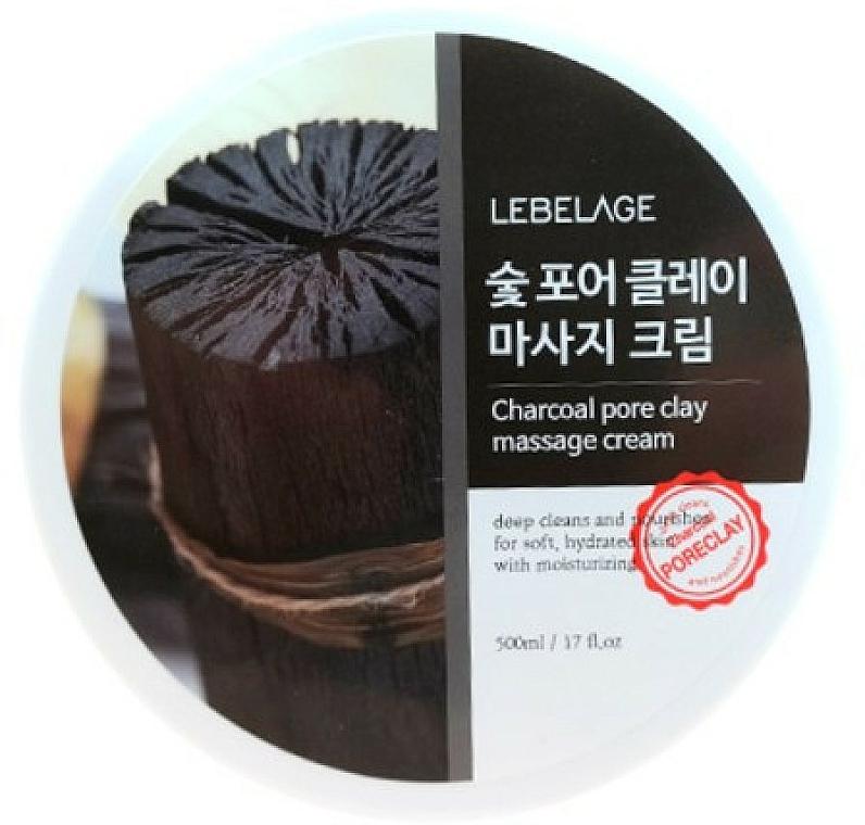 Crème de massage purifiante au charbon pour visage - Lebelage Charcoal Pore Clay Massage Cream — Photo N1