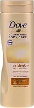 Parfums et Produits cosmétiques Lotion auto-bronzante pour corps - Dove Visible Glow Gradual Self-Tan Lotion Fair-Medium Skin