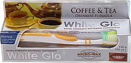 Parfums et Produits cosmétiques White Glo Coffee & Tea Drinkers Formula Whitening Toothpaste - Set (dentifrice/100ml + brosse à dents)
