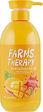 Parfums et Produits cosmétiques Gel douche à l'extrait de mangue - Farms Therapy Sparkling Body Wash Mango