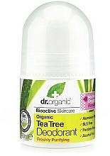 Parfums et Produits cosmétiques Déodorant roll-on antibactérien à l'huile d'arbre à thé bio - Dr. Organic Bioactive Skincare Tea Tree Roll-On Deodorant