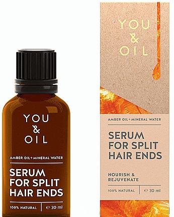 Sérum à l'huile d'ambre et eau minérale pour cheveux fendus - You & Oil Amber. Serum For Split Hair Ends — Photo N1