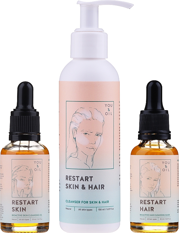 Traitement pour visage et cheveux - Restart Skin & Hair. 3 in 1 Bundle — Photo N2