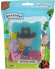 Parfums et Produits cosmétiques Éponge de bain pour enfants, Ben et Holly, Ben, shérif, bleu - Suavipiel Ben & Holly Bath Sponge